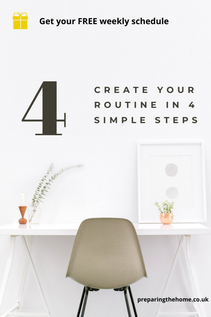 How to create a simple weekly routine or schedule for mums